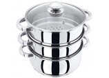 JUDGE 24CM 3 PIECE STEAMER WITH GLASS LID